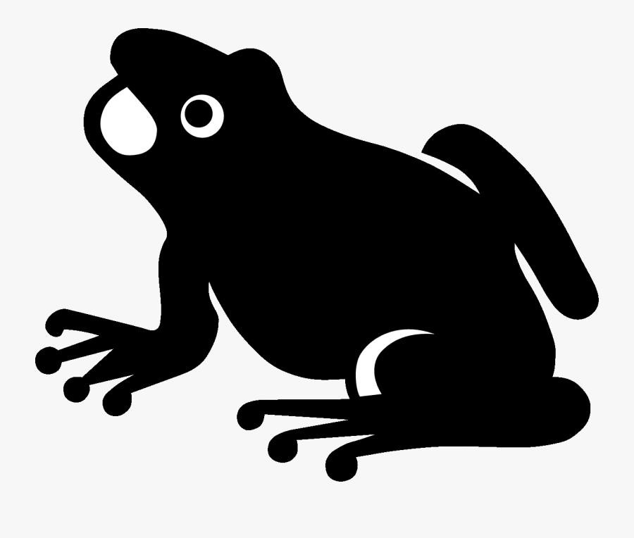 Frog Silhouette - Frog Vector, Transparent Clipart