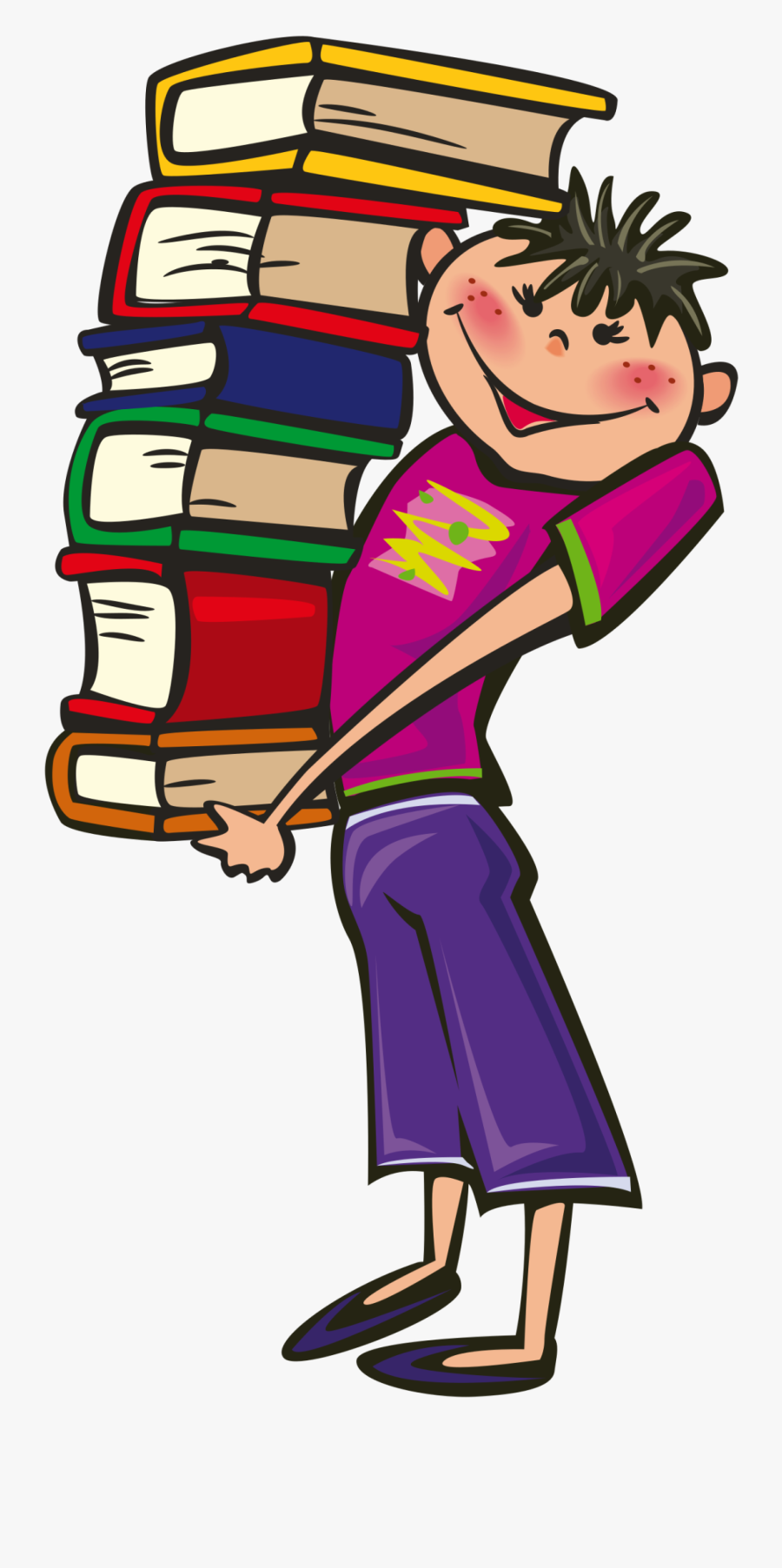 Transparent Hypothesis Clipart - Student With Books Clipart, Transparent Clipart