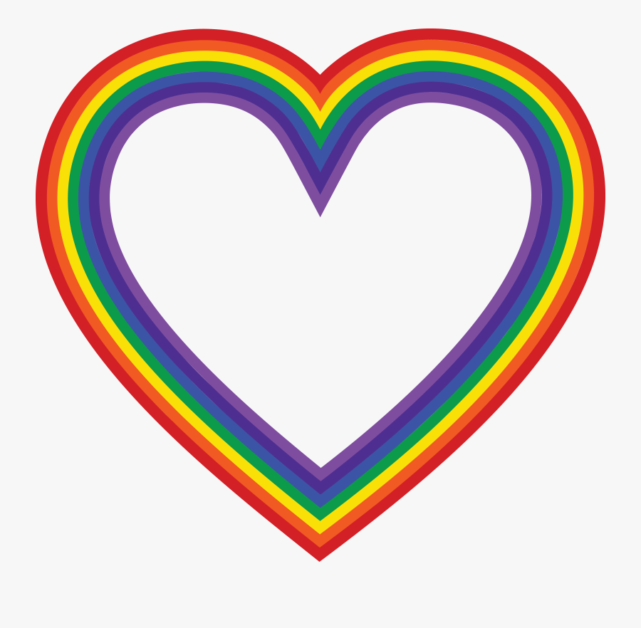 Transparent Free Rainbow Png - Free Rainbow Heart Clipart ...