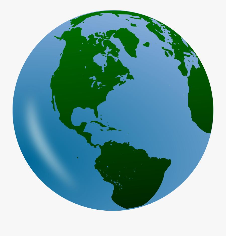 Earth Clipart Globe - Transparent Background Earth Clip Art, Transparent Clipart