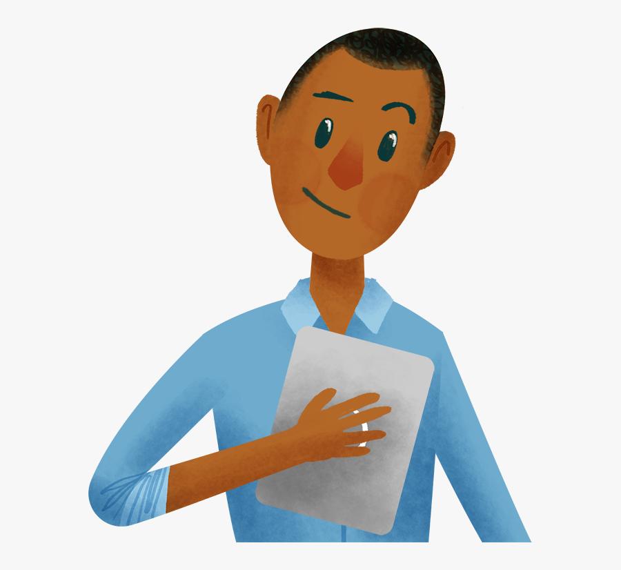 Transparent Ask Questions Clipart - Teacher Student Asking Question Cartoon, Transparent Clipart