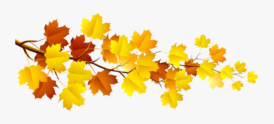 Branch Autumn Tree Clip Art - Autumn Leaves Clipart, Transparent Clipart