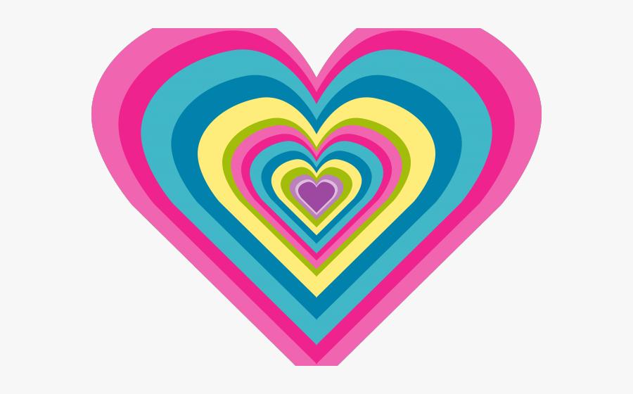 Gems Clipart Rainbow Heart - Moving Rainbow Love Heart, Transparent Clipart