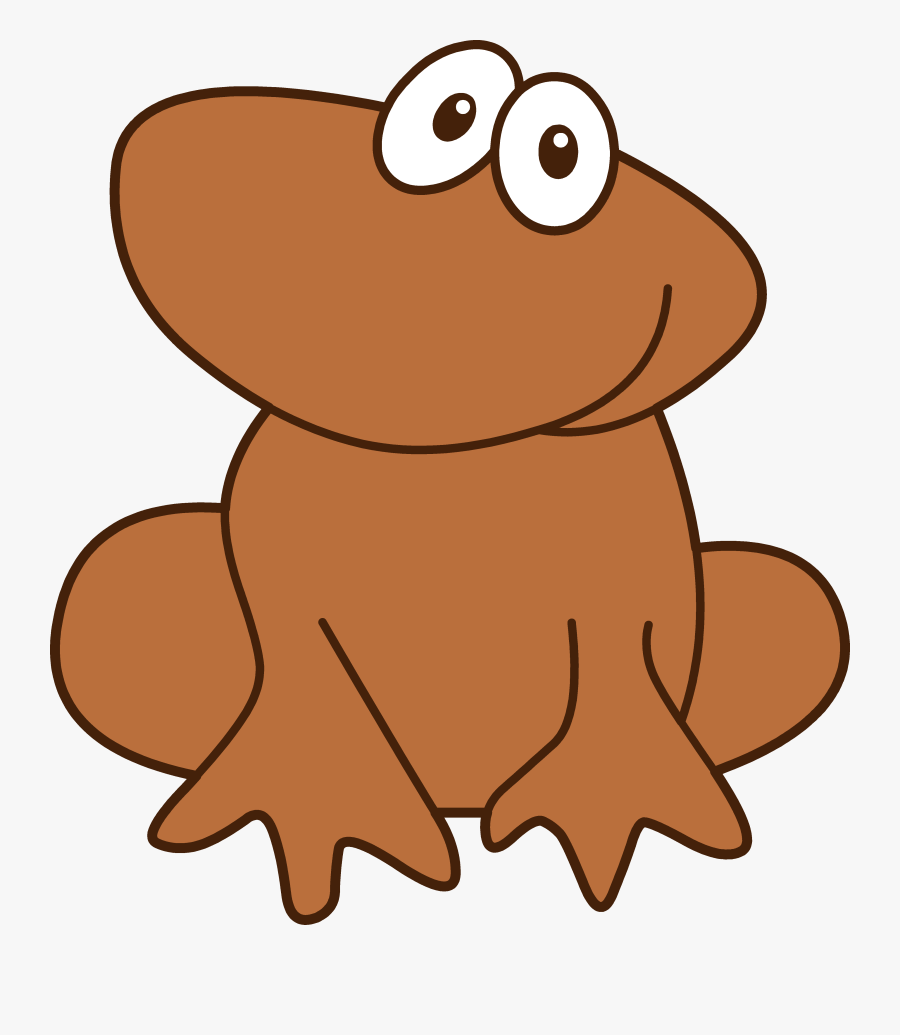 Cute Little Brown Frog - Brown Frog Clipart, Transparent Clipart