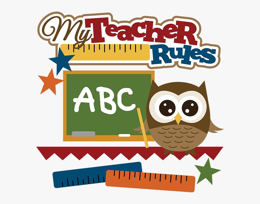Cute Owl Teacher Clipart - Teachers File Clip Art, Transparent Clipart