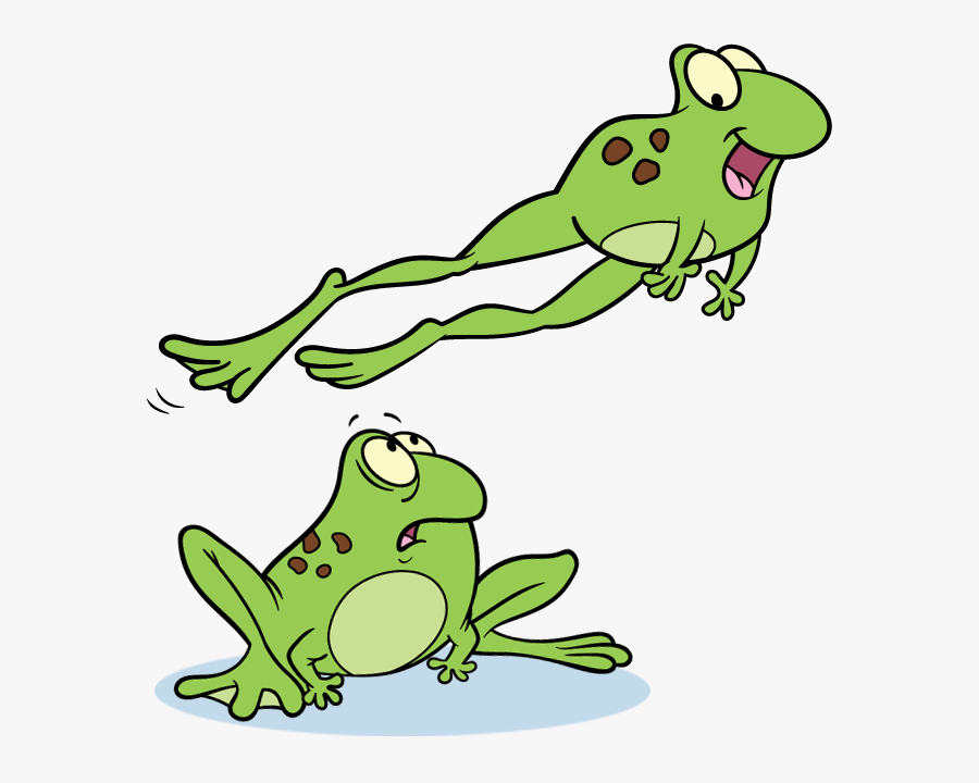 Clip Art Leap Frog Clipart - Clip Art Frogs Jumping, Transparent Clipart