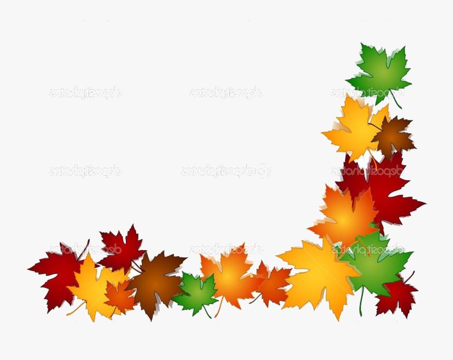 Fall Border X Free Autumn Clipart Backgrounds Harvest - Autumn Leaves Border Clip Art, Transparent Clipart