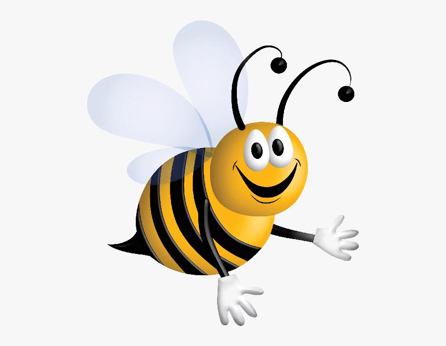 Cartoon Honey Bee Clip Art - Honey Bee Clipart Gif, Transparent Clipart
