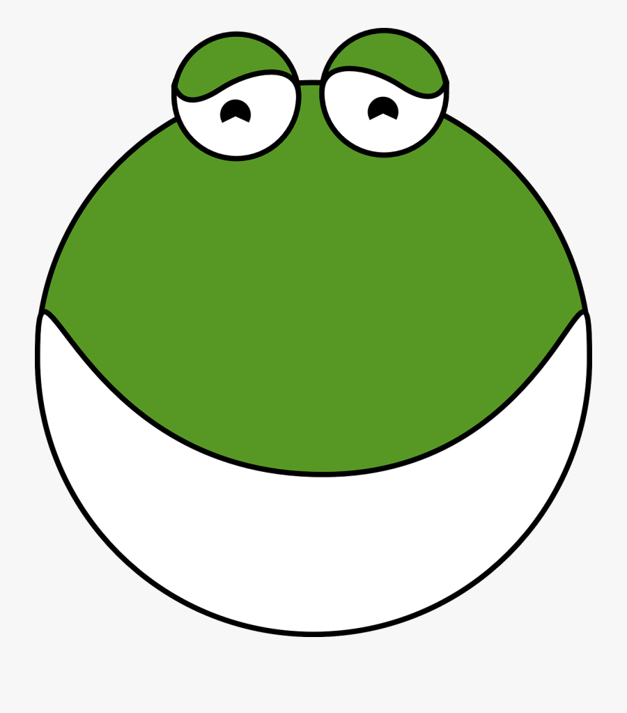 Cute Frog Clipart - Frog With Open Mouth Cartoon, Transparent Clipart