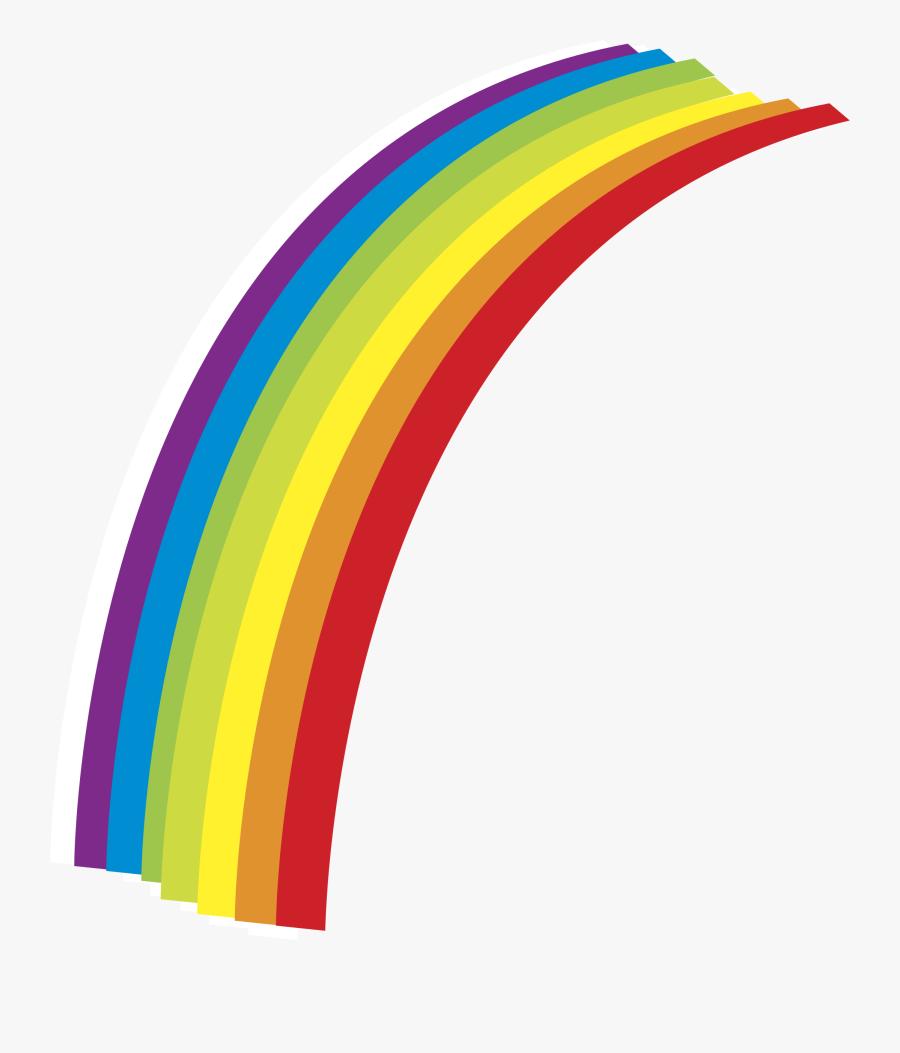 Rainbow Clipart Straight - Half Rainbow Clip Art, Transparent Clipart
