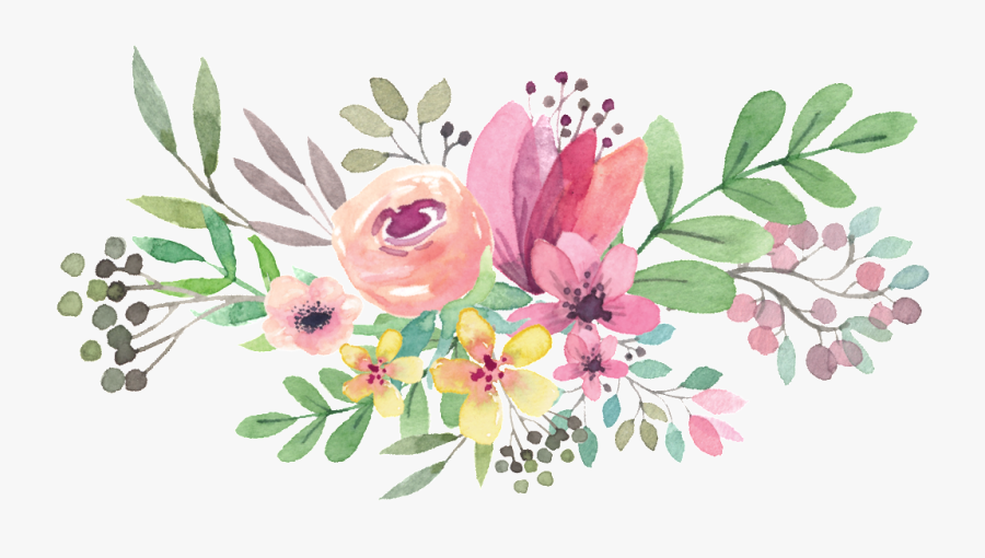Graphic Transparent Download Flower Circle Png Peoplepng - Watercolor Flower Vector Png, Transparent Clipart