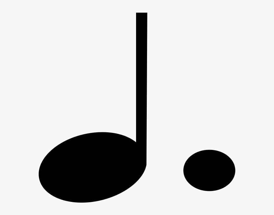 Music Clipart Quarter Note - Dotted Quarter Note Symbol ...