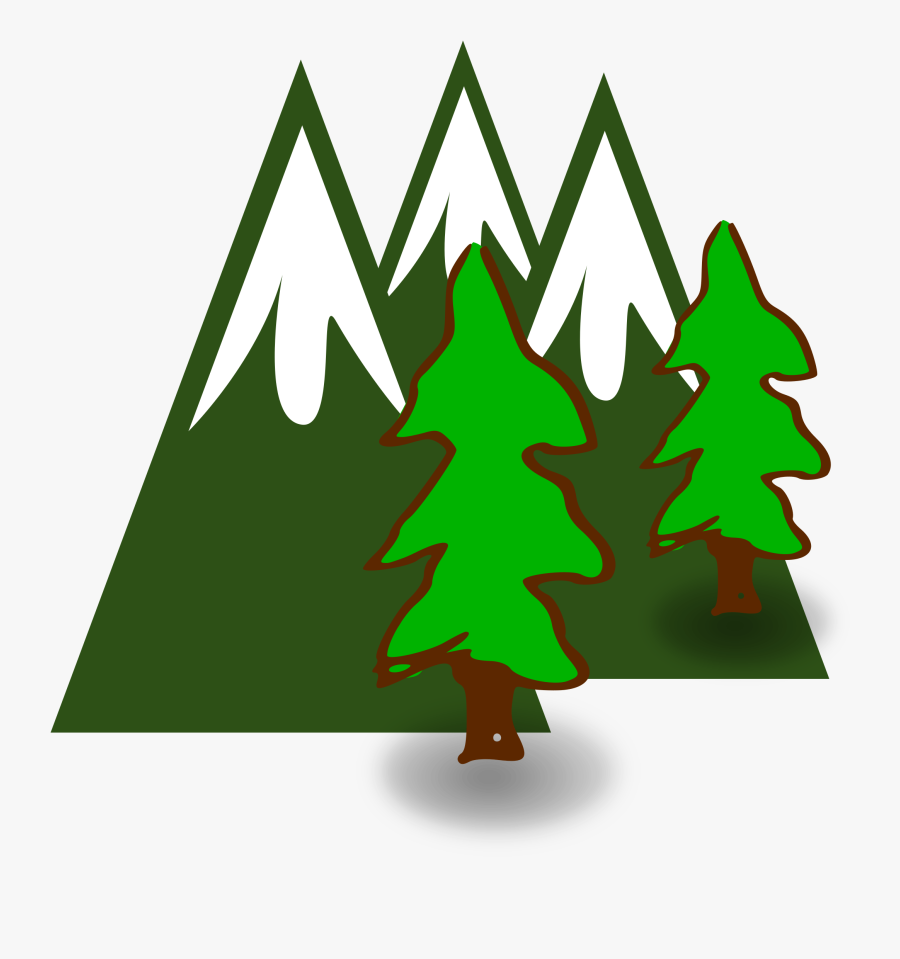 Mountain Tree Cliparts - Mountains With Trees Clipart, Transparent Clipart