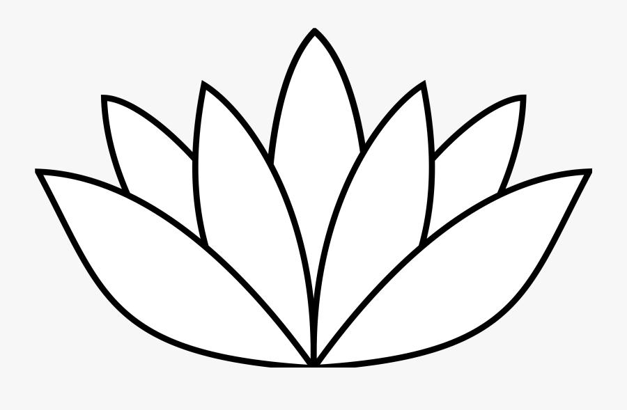 White Lotus Flower Svg - Lotus Flower Drawing Simple, Transparent Clipart