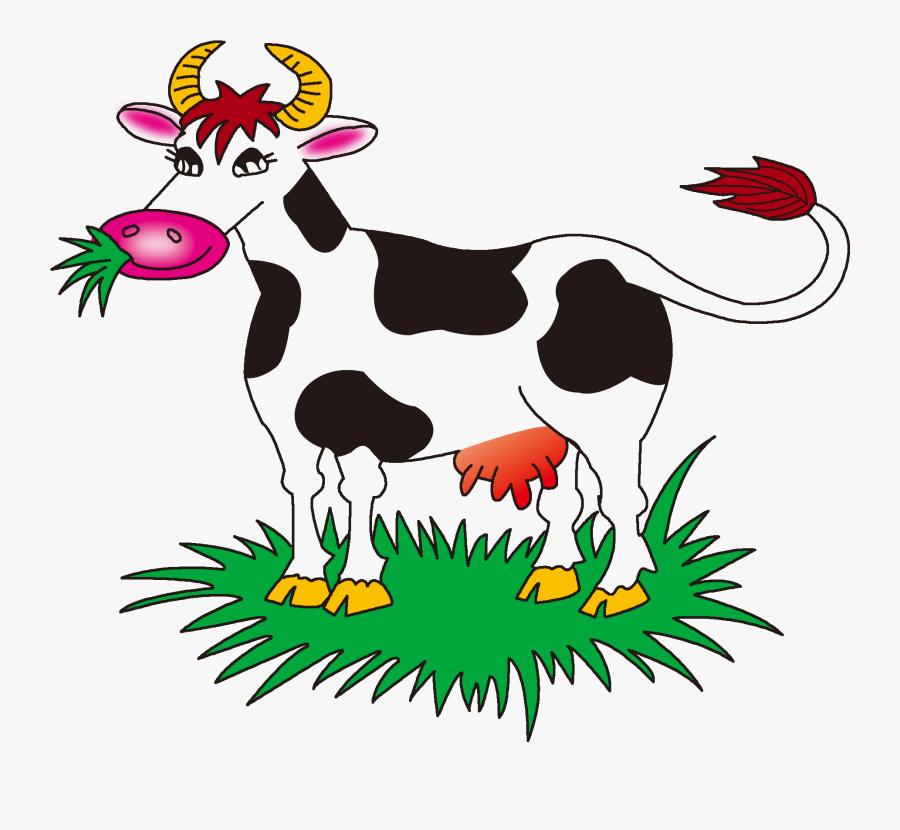 Clip Art Cow Vector Transparent - Grass Clipart Animal ...