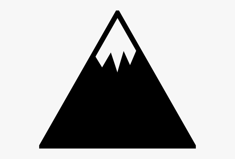 Mountain With Snow Clipart, Transparent Clipart