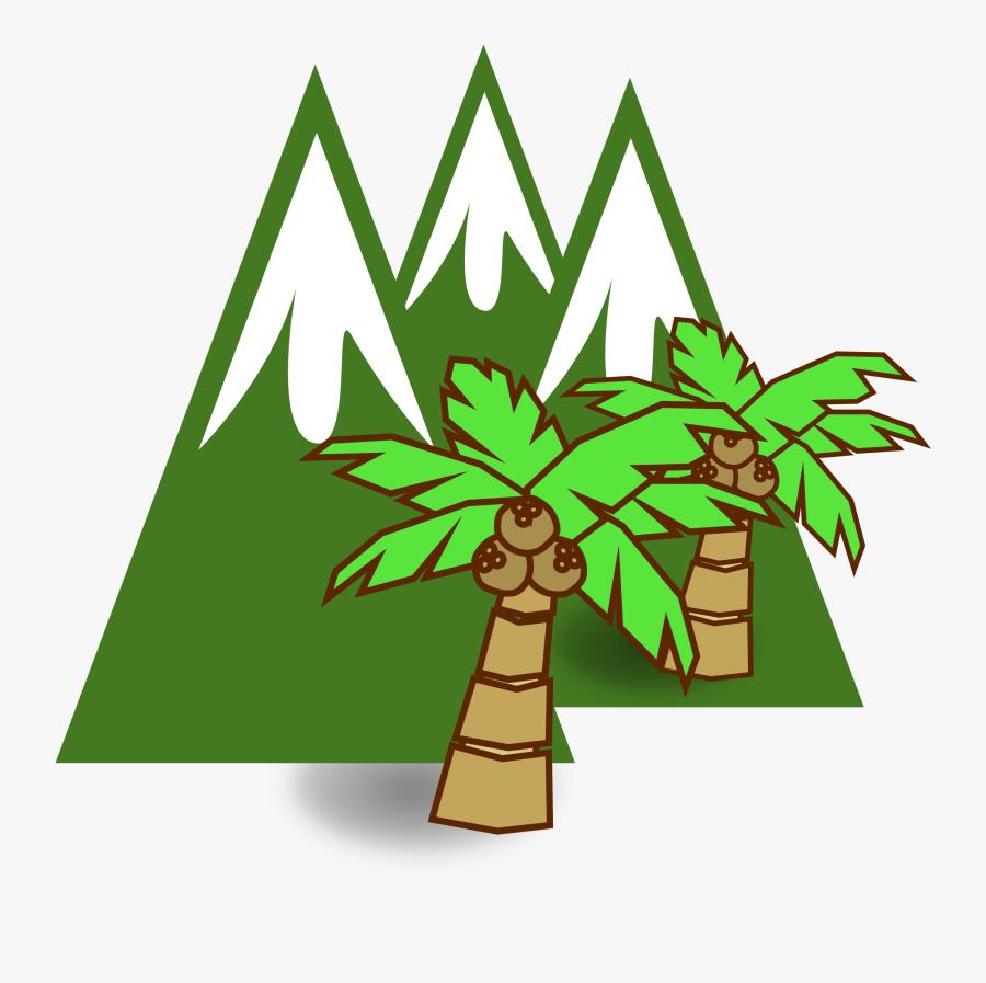 Snow Mountain Clip Art - Brown Mountain Clipart, Transparent Clipart