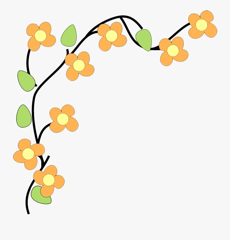 Flower Border Clipart, Transparent Clipart