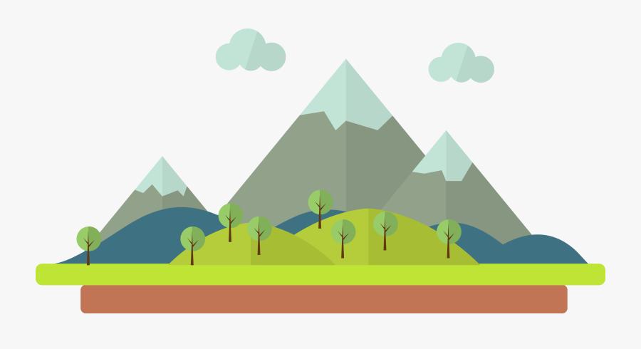 Transparent Mountain Clipart - Mountain Cartoon Drawing, Transparent Clipart