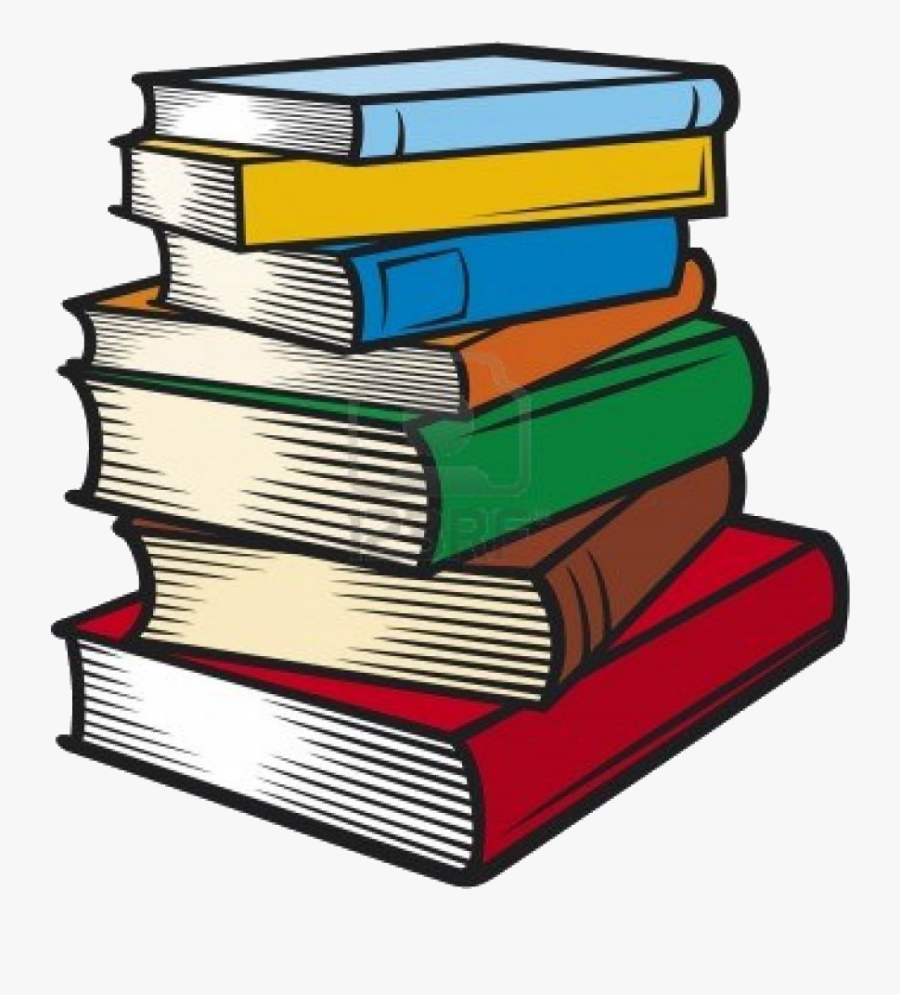 Book Stack Of Books Clip Art Transparent Png - Pile Of Books Clip Art, Transparent Clipart