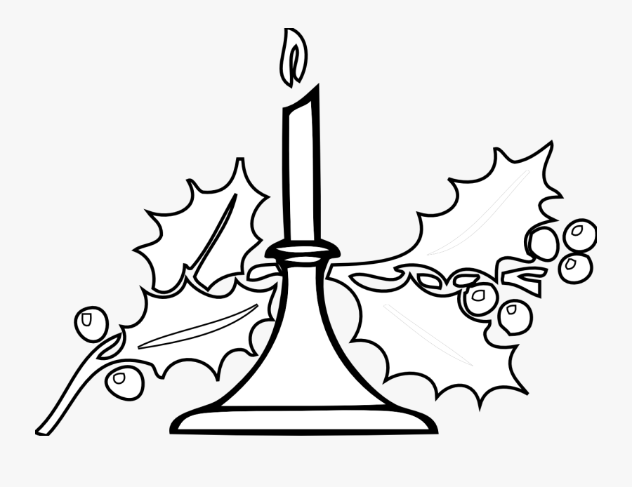 Thanksgiving Clipart Religious - Christmas Candle Clipart Black And White, Transparent Clipart