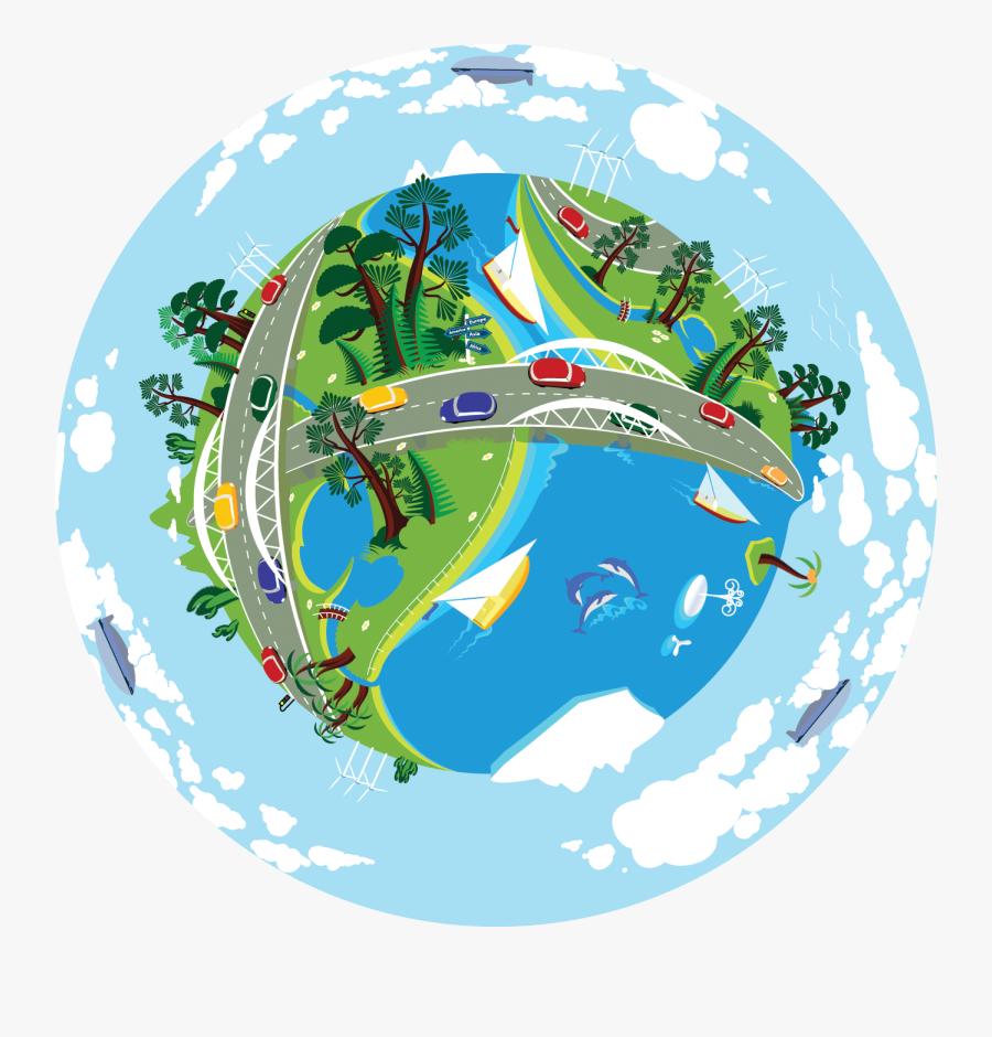 Clean Earth, Transparent Clipart