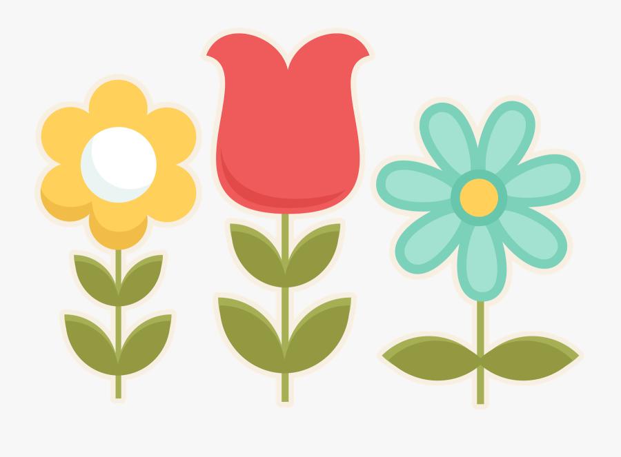 Cute Spring Flowers Clipart, Transparent Clipart