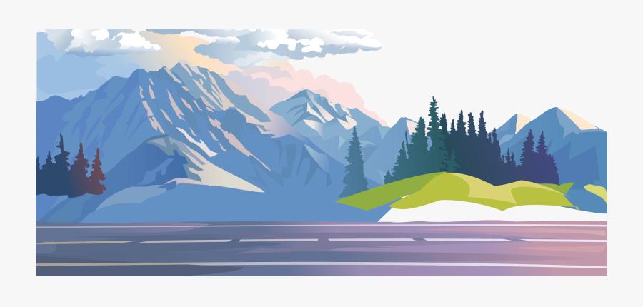 Mountain Clipart Mountain Landscape - Mountain Forest Clip Art, Transparent Clipart