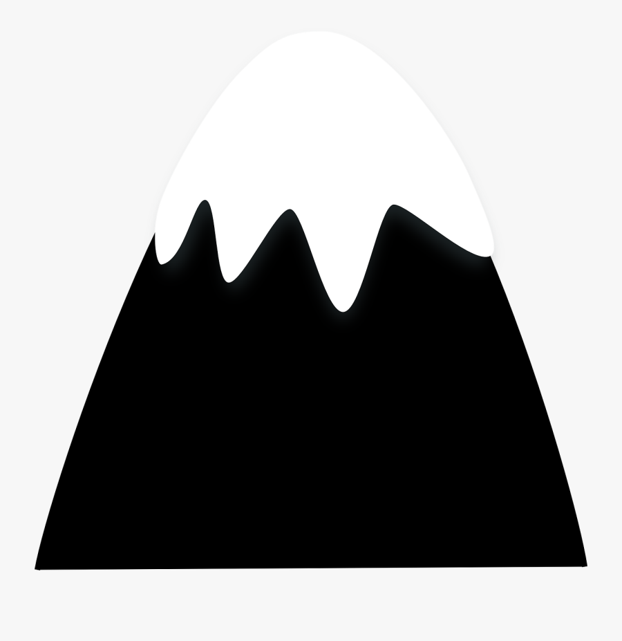 Mountain Silhouette Vector At Getdrawings - Cartoon Snow Covered Mountain Png, Transparent Clipart