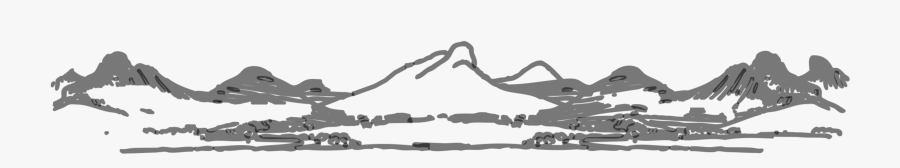 Clipart Mountain Range - Mountain Border Black And White, Transparent Clipart