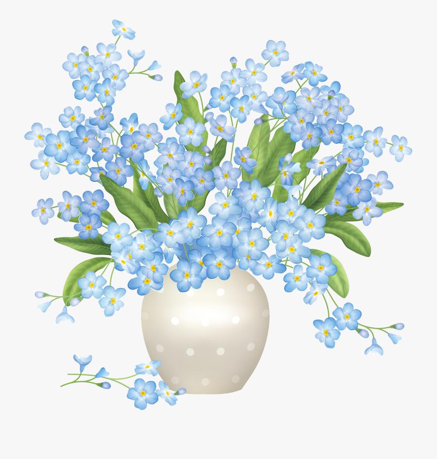Hd Vase Png Flower - Blue A Flower Clip Art, Transparent Clipart