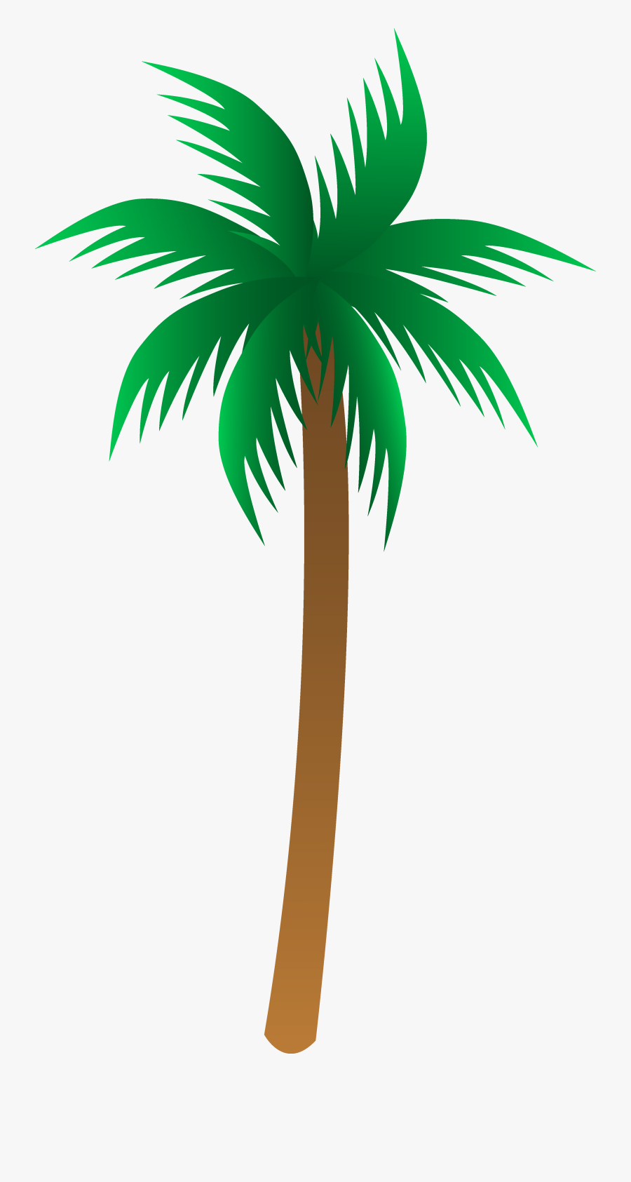 Palm Tree Art Tropical Palm Trees Clip - Palm Tree Vector Png, Transparent Clipart
