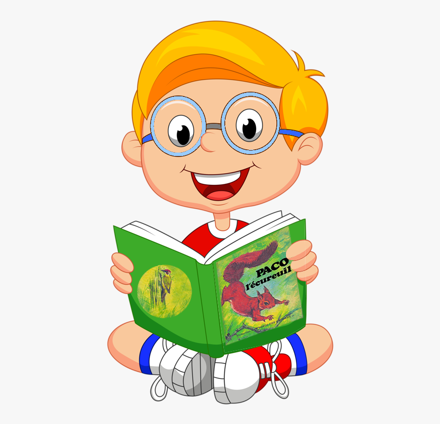 Illustrator Of Children Png And Clipart - Cartoon Kid Reading, Transparent Clipart