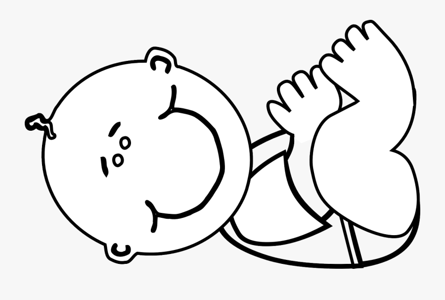 Baby Clipart Black - Outline Png Clipart Baby, Transparent Clipart