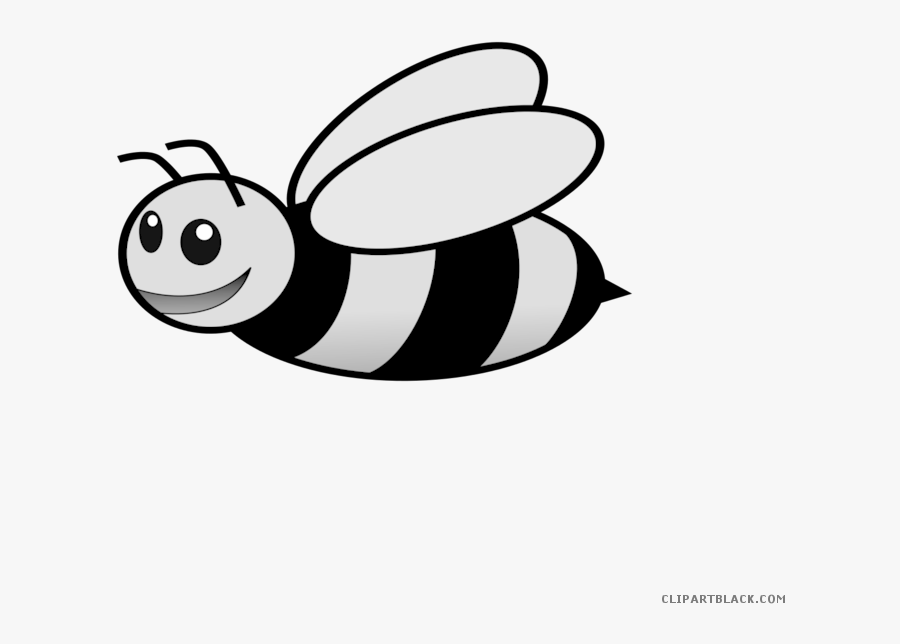 Bees Clipart Flying - Cute Bumble Bee Coloring Pages, Transparent Clipart