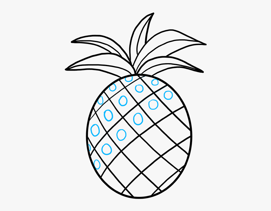How To Draw A Pineapple - Draw A Pineapple Easy Step, Transparent Clipart