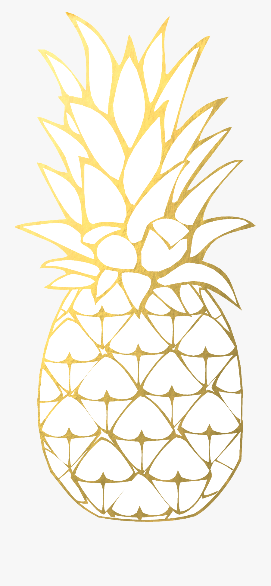 Pineapple Clipart Gold Pineapple - Transparent Background Gold Pineapple, Transparent Clipart