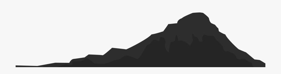 Mountain Clipart Dark - Silhouette, Transparent Clipart