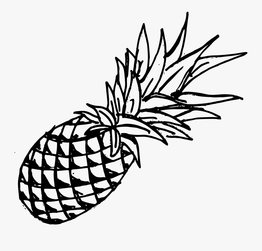 Black Pineapple Transparent Background, Transparent Clipart