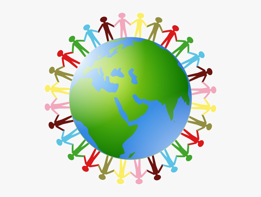 Thumb Image - Earth Holding Hands Clipart, Transparent Clipart