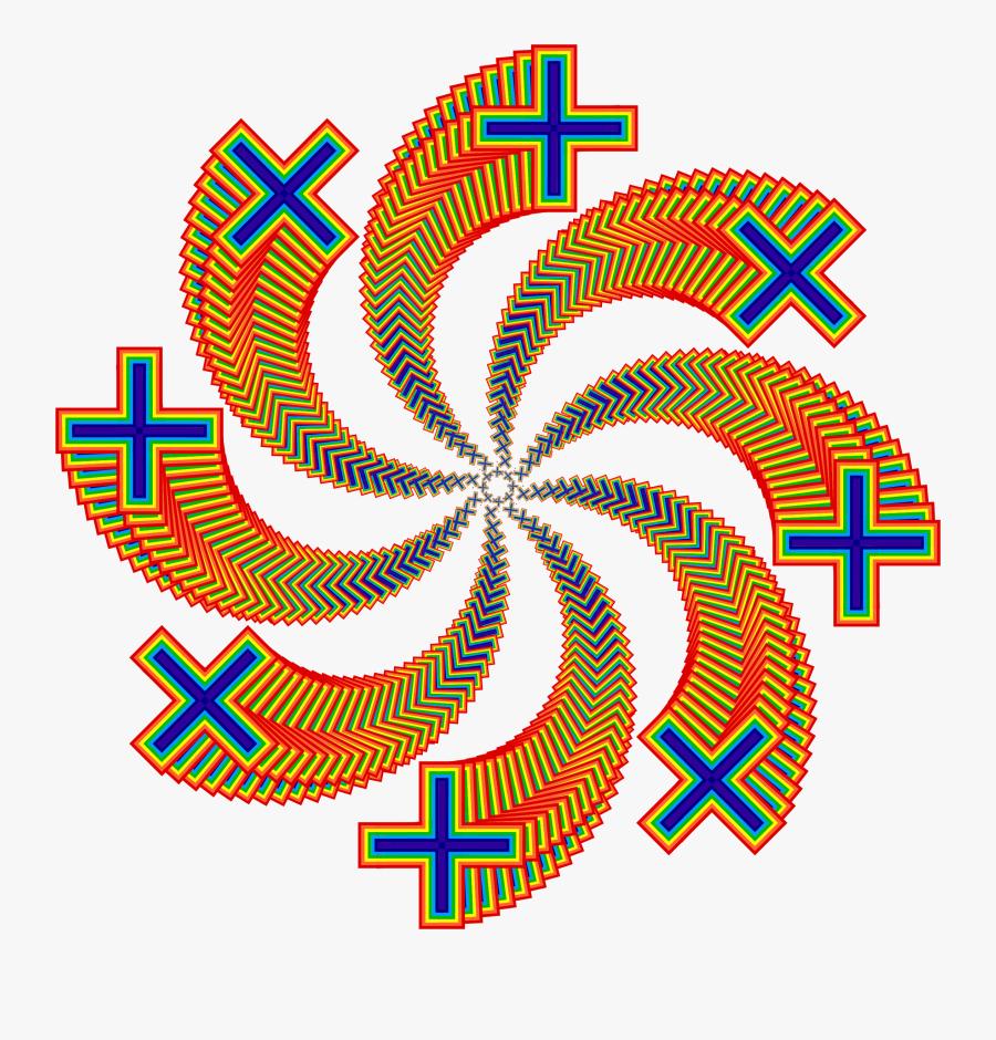 Rainbow Cross Design Graphic Transparent Library - Graphic Design, Transparent Clipart