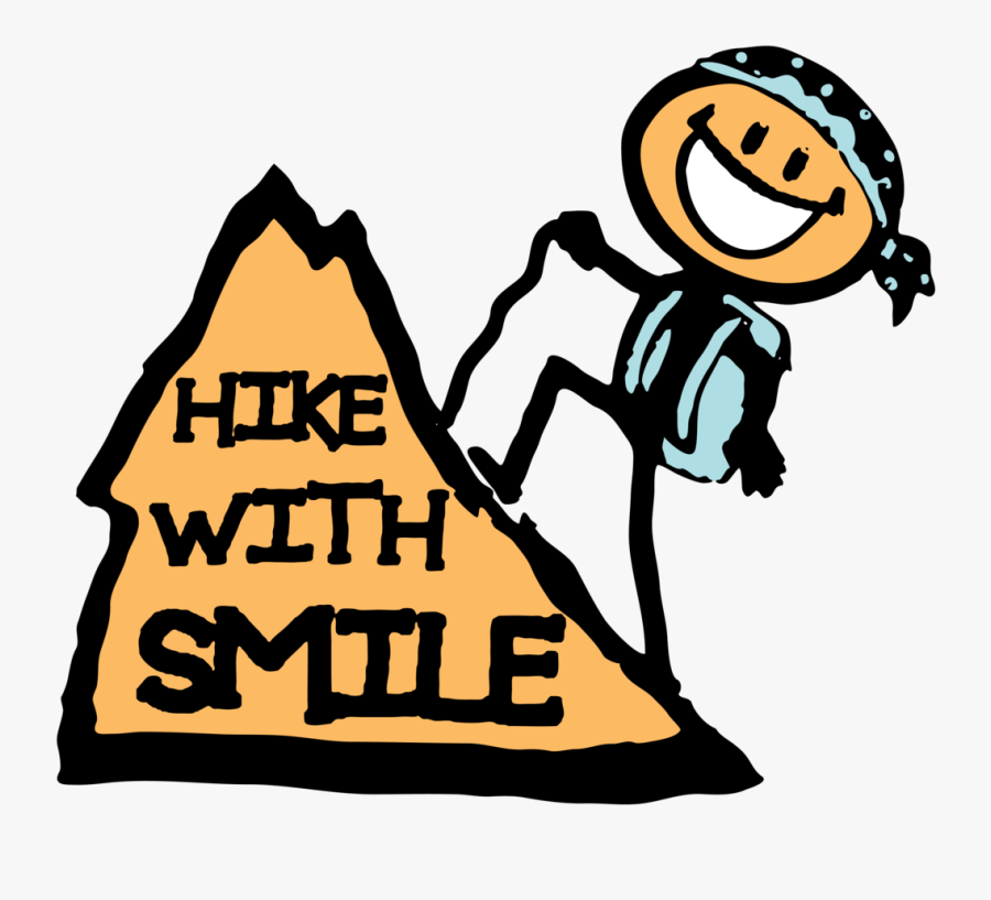 Hikewithsmile - Hiking Mountain Kid Clipart, Transparent Clipart