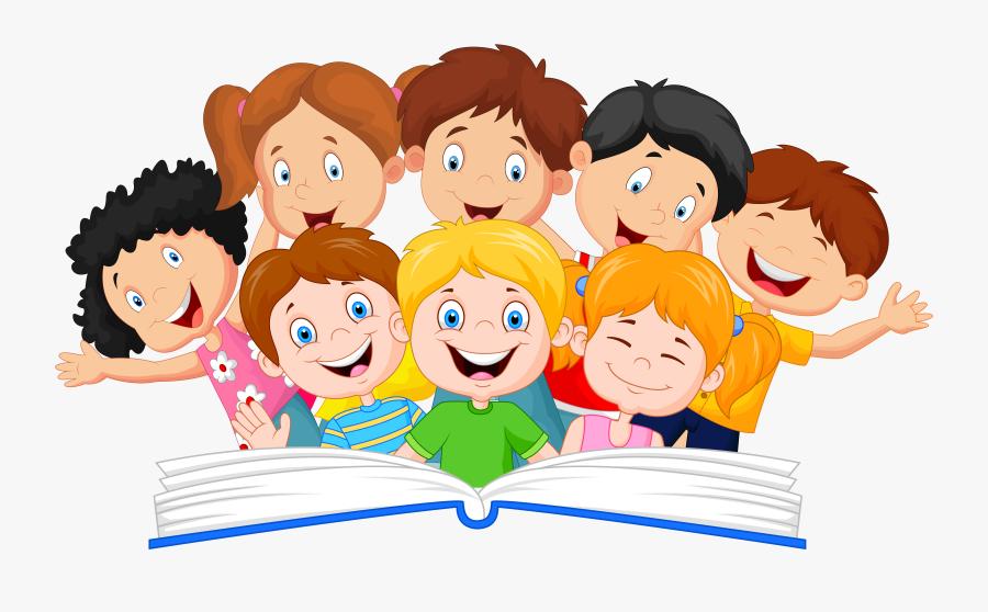 Kids Reading Clipart, Transparent Clipart