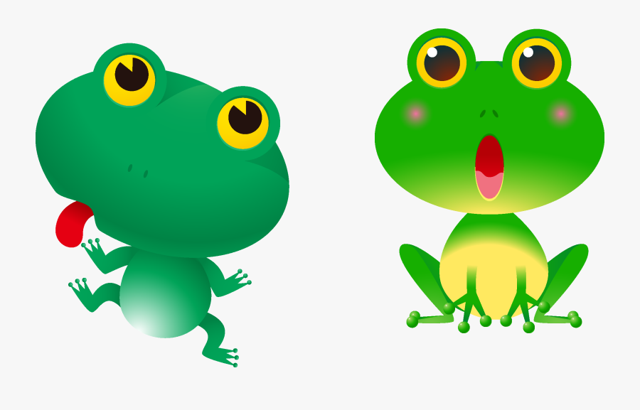 Tree Frogs Clipart - Red Eyed Tree Frog Cartoon, Transparent Clipart