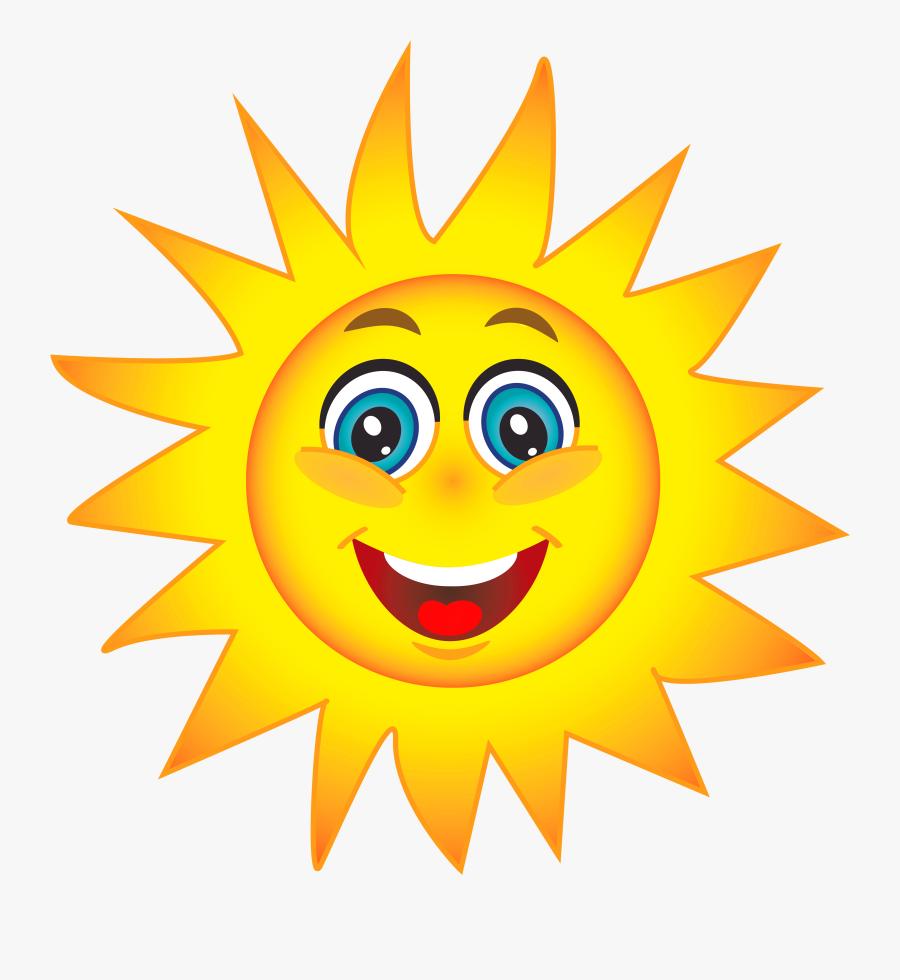 Happy Sun Clip Art - Transparent Background Sun Gif, Transparent Clipart