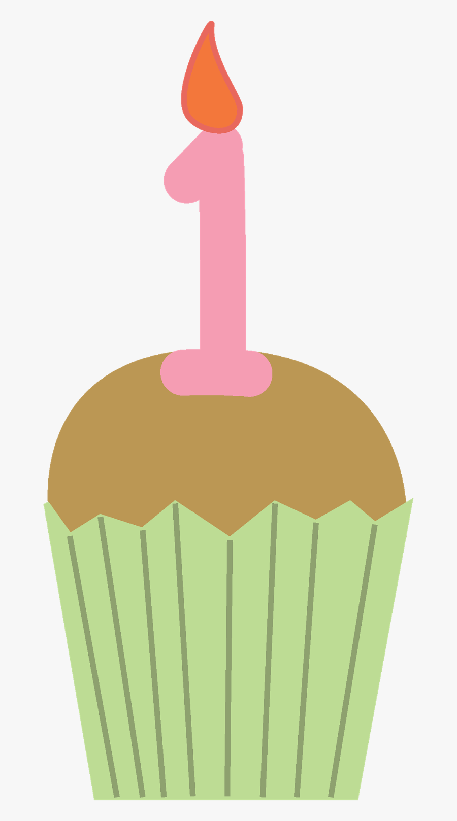 Birthday Cupcake Clipart - 1st Birthday Cupcake Png, Transparent Clipart