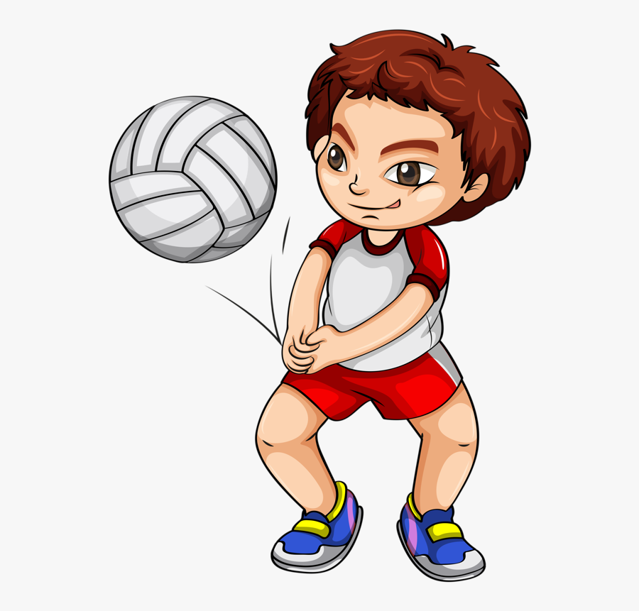 Transparent Exercise Clipart - Volleyball Sports Clipart, Transparent Clipart