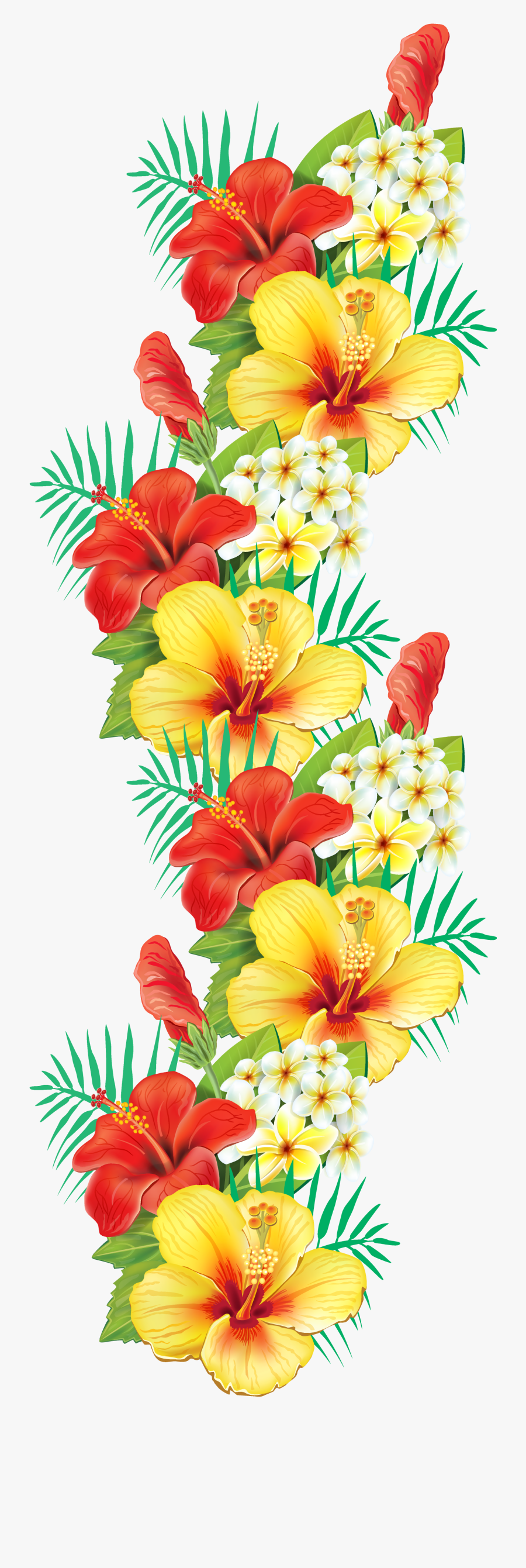 Clip Royalty Free Library Exotic Decor Png Pinterest - Tropical Flowers Border Png, Transparent Clipart