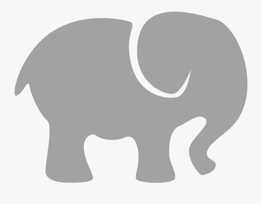 Elephant Gray Silhouette Free - Grey Baby Elephant Clipart, Transparent Clipart
