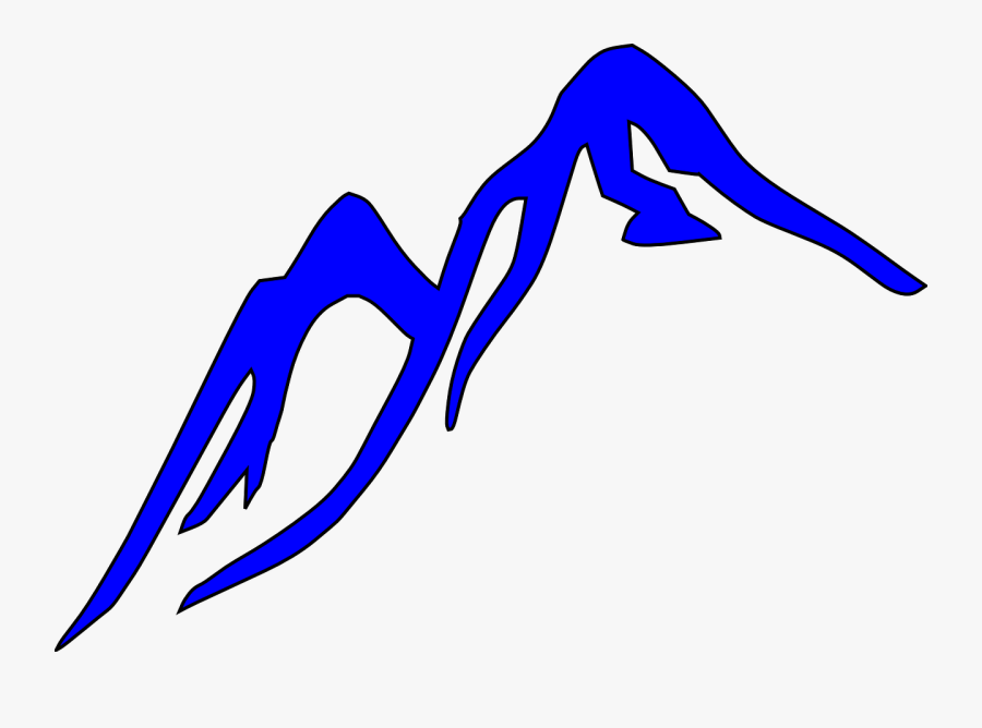 Free Vector Graphic Mountain Outline Blue Glacier Image - Blue Ridge Mountains Cartoon, Transparent Clipart